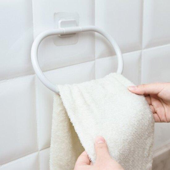 毛巾架 防蚊免打孔毛巾架 廚房 免釘 抹布 衛生間 掛毛巾 壁掛 ♚MY COLOR♚【L147-1】