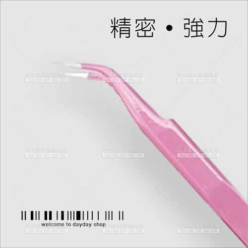 JNR彩鋼精密強力鑷子-彎型(粉色)[58701]