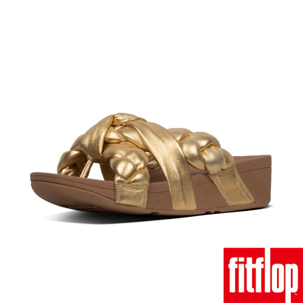 【FitFlop】PLATT夾腳涼鞋金色