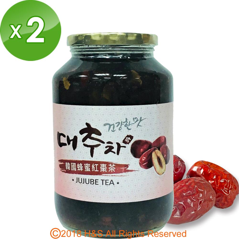 《韓廣》韓國蜂蜜紅棗茶(1kg)2入組