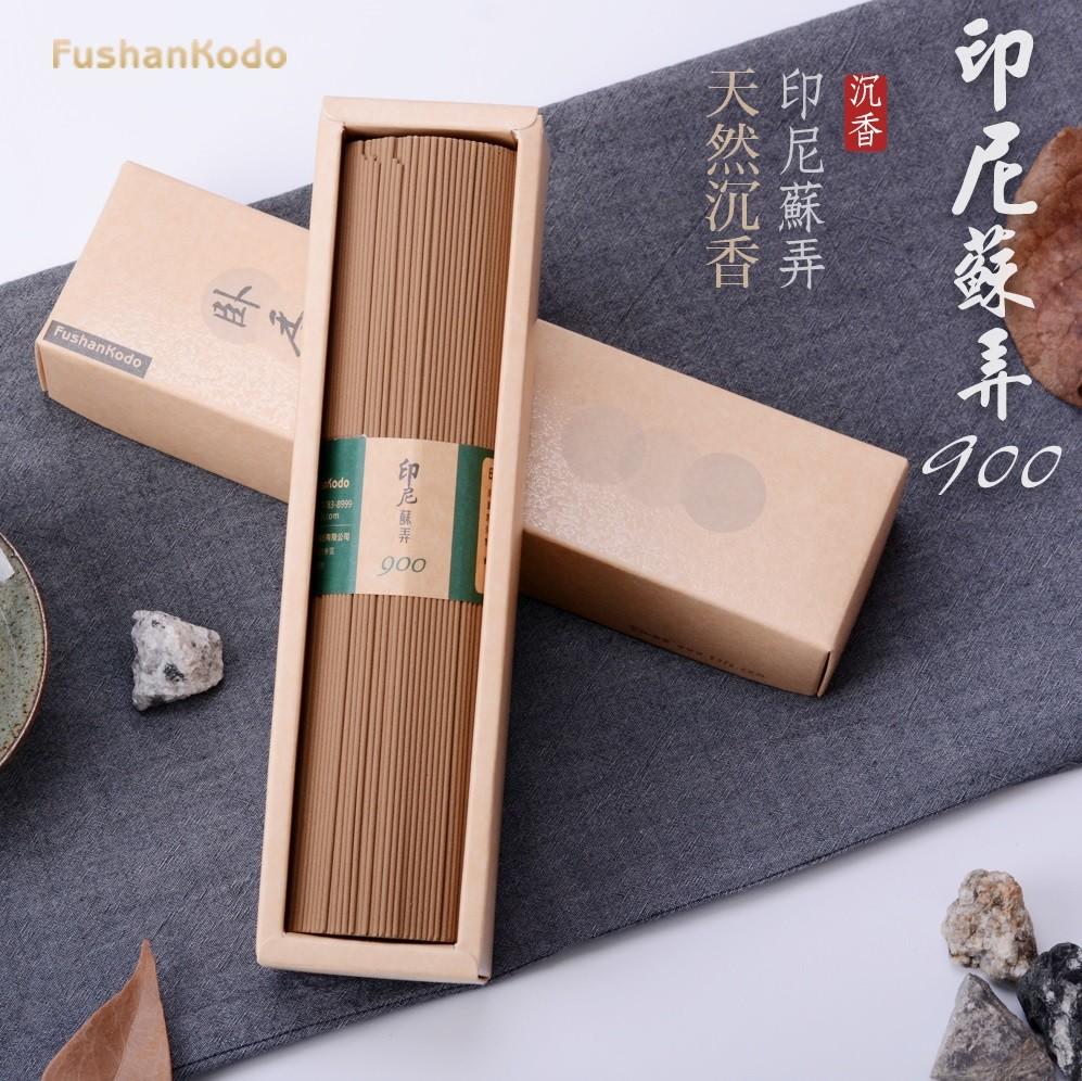 fushankodo 富山香堂六星沉_印尼蘇弄900沉香_205mm臥香200g