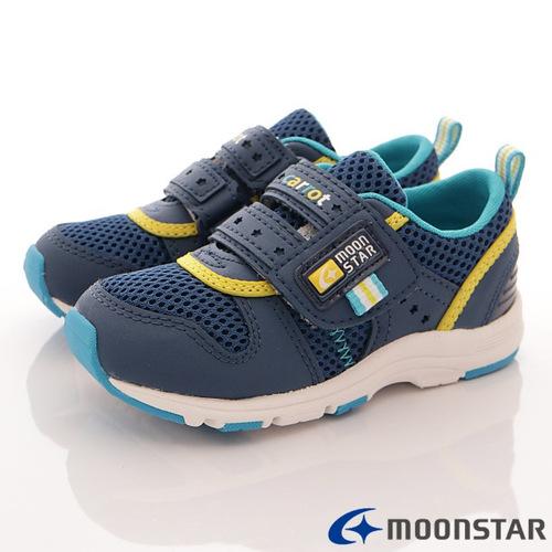 日本Carrot機能童鞋-清新透氣機能款-C21755深藍-(15cm-21cm)
