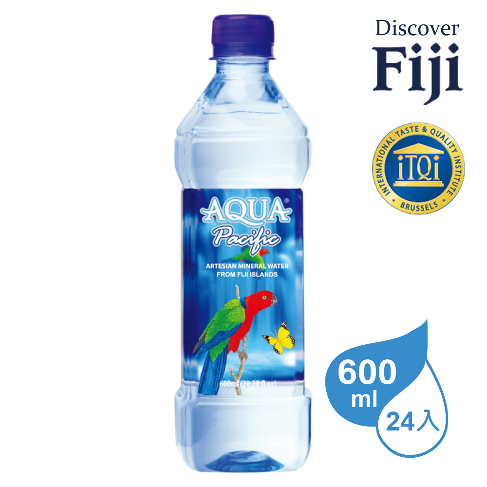 AQUA PACIFIC 斐濟太平洋純淨天然礦泉水600ml (24入)
