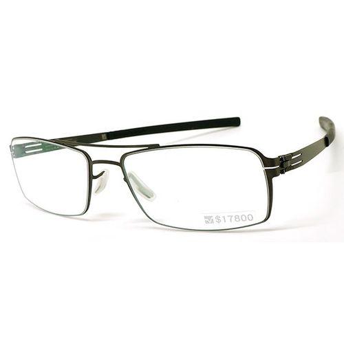 【ic! berlin】德國薄鋼光學眼鏡鏡框 tom b. graphite 無螺絲專利設計 54mm