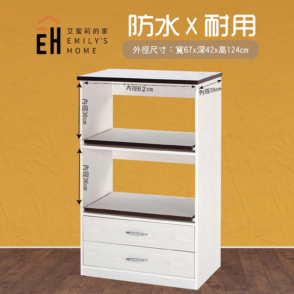 艾蜜莉的家2.2尺塑鋼白橡色電器櫃(含插座)