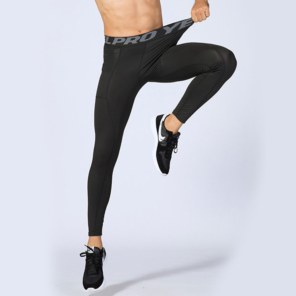 kissdiamond創新高彈力緊身雙側口袋壓縮褲-1080
