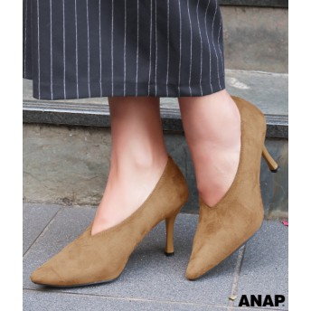 【セール開催中】ANAP(アナップ)フェイクスエードパンプス