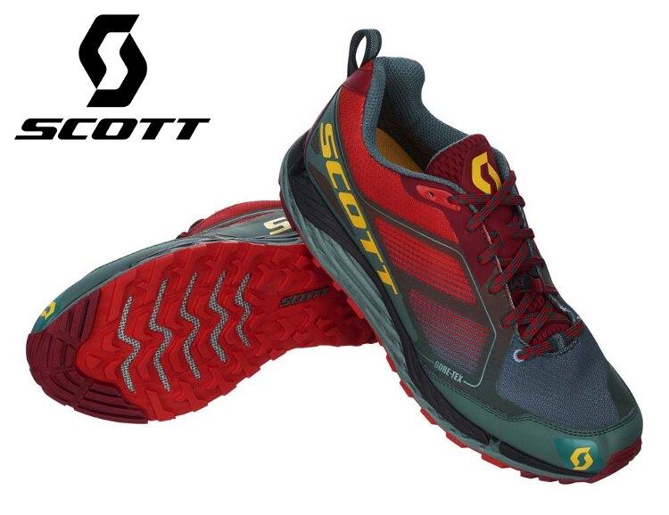 特價 Scott 野跑鞋/越野鞋/慢跑鞋/馬拉松/路跑 T2 Kinabalu  GTX 3.0防水透氣跑鞋 242017 男款 紅灰