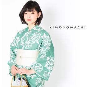 KIMONOMACHI 浴衣単品 花 牡丹 レディース