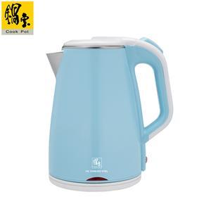 【鍋寶】#316雙層防燙保溫快煮壺-1.8L-藍 KT-90182B