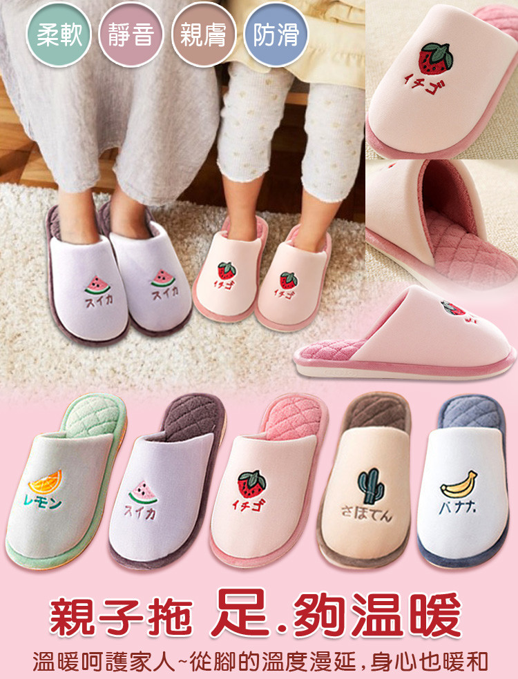 dtw水果保暖舒適室內拖鞋