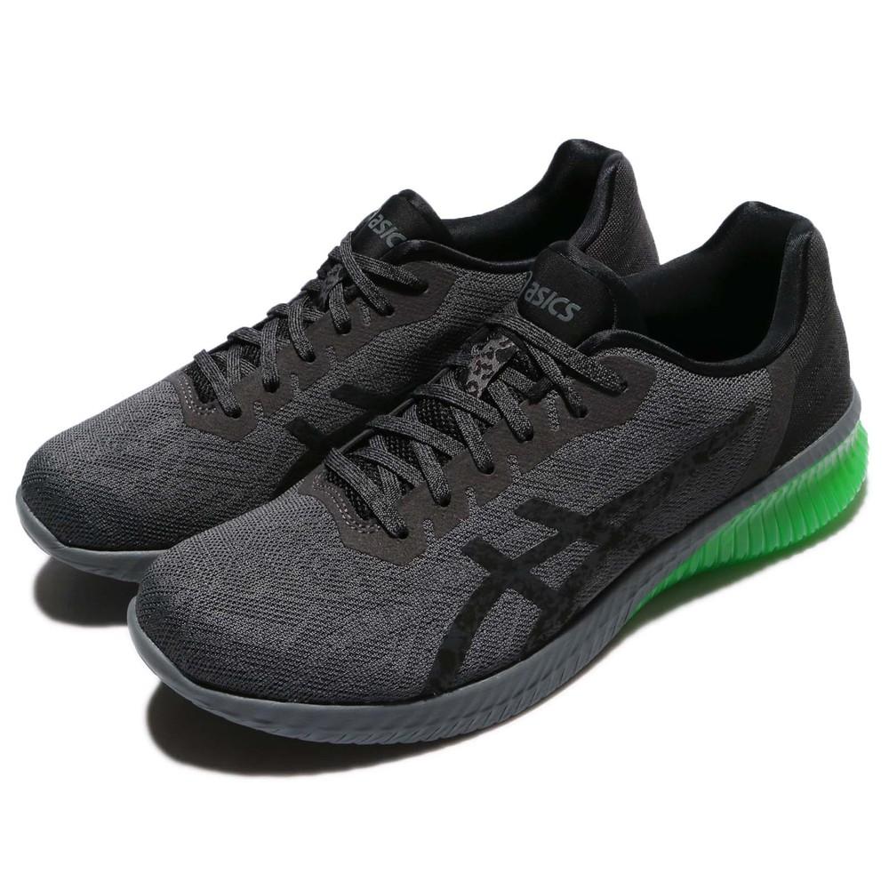 專業慢跑鞋品牌:ASICS型號:T7C4N9590品名:Gel-Kenun配色:灰色,綠色