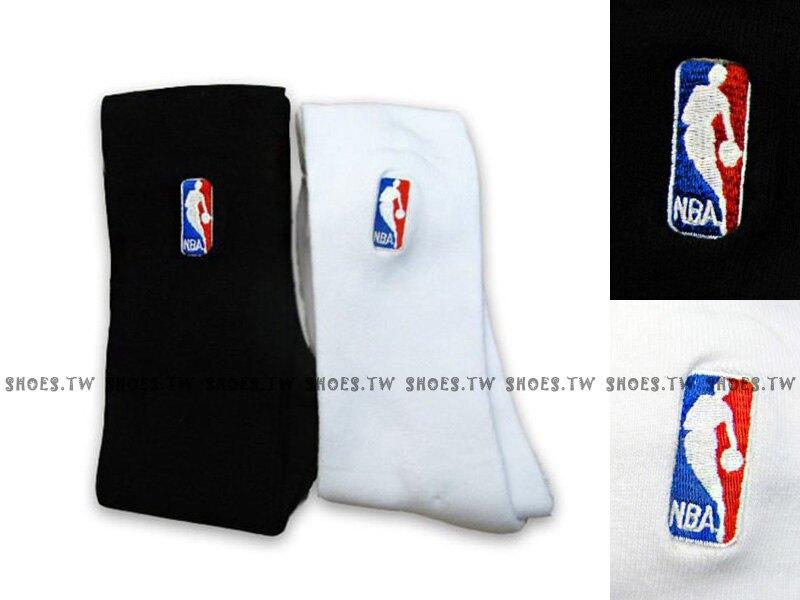 NBA【8261212-】運動襪 長襪 小腿肚到膝蓋 黑 白 兩色