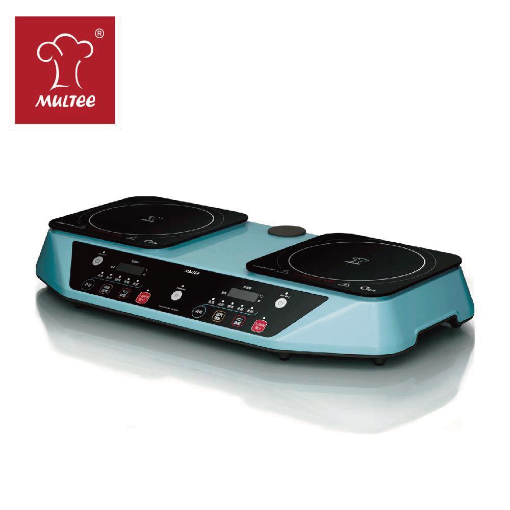 【MULTEE摩堤】雙爐Performa Duo IH可提攜式智慧電磁爐(雙邊獨立控溫料理平台)-星光藍