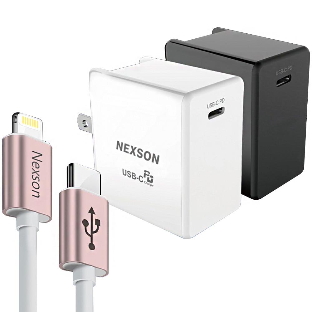 nexson 通海 for 蘋果iphone pd閃充組(配蘋果認證mfi c to l線玫瑰金)