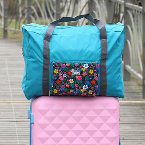 和風清新花紋旅行折疊拉桿收納袋