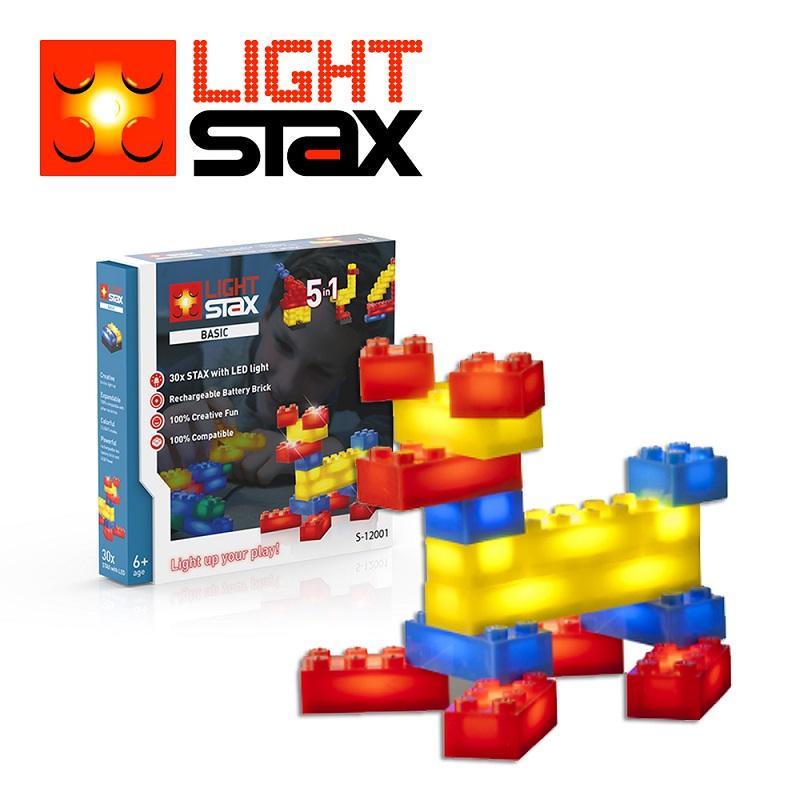 創意LED積木(小狗5合1+聲控底座)