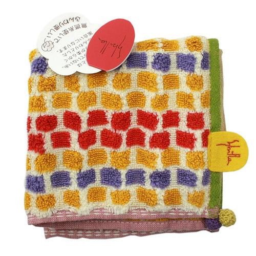 【Sybilla】西班牙品牌 春季新款編織系列織紋小方巾(土黃色)