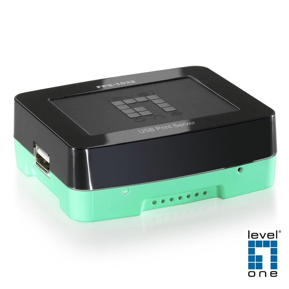 LevelOne 最迷你的USB Print Server印表機伺服器 FPS-1032