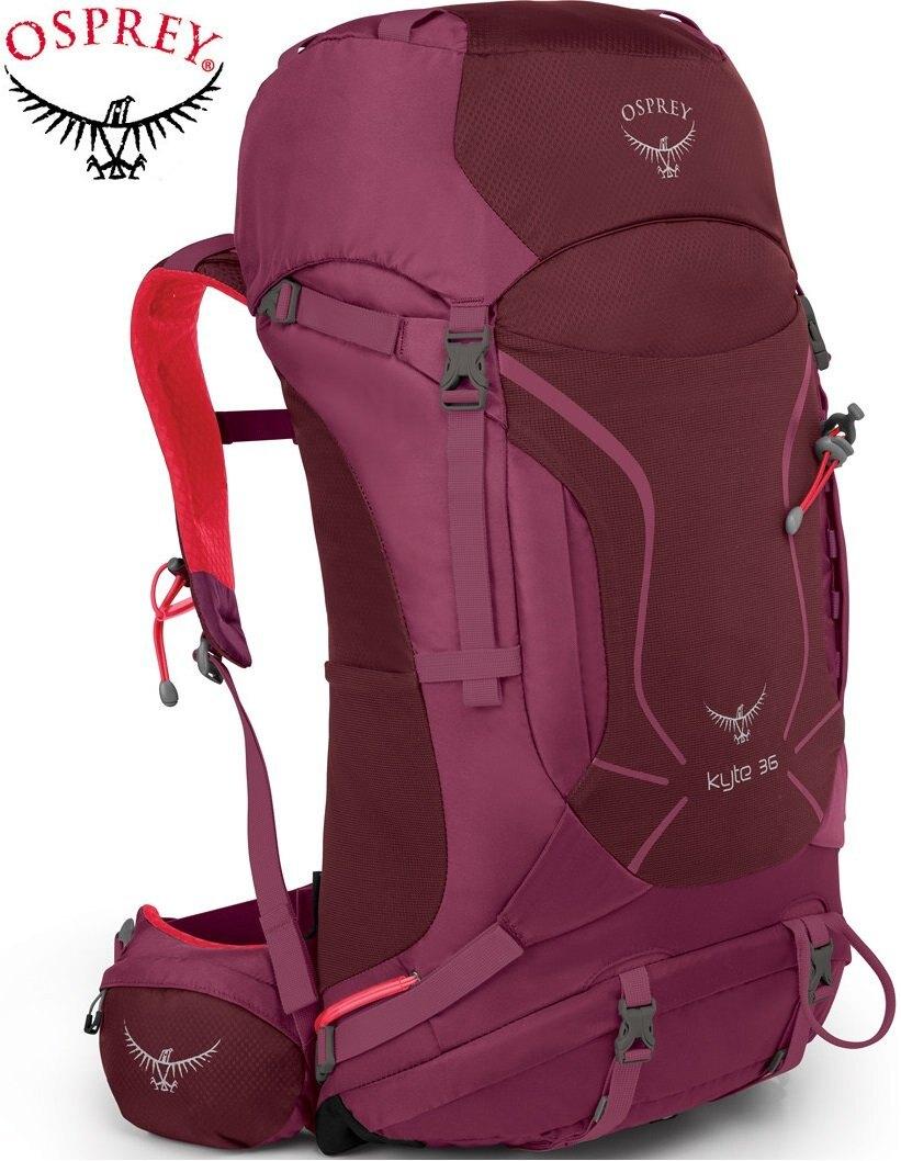 【【蘋果戶外】】Osprey 10000186 KYTE 36 海芋紫 S/M 【36L/女款】 小鷹級 輕量健行背包 3D立體網背 登山杖扣 自助旅行.出國打工度假