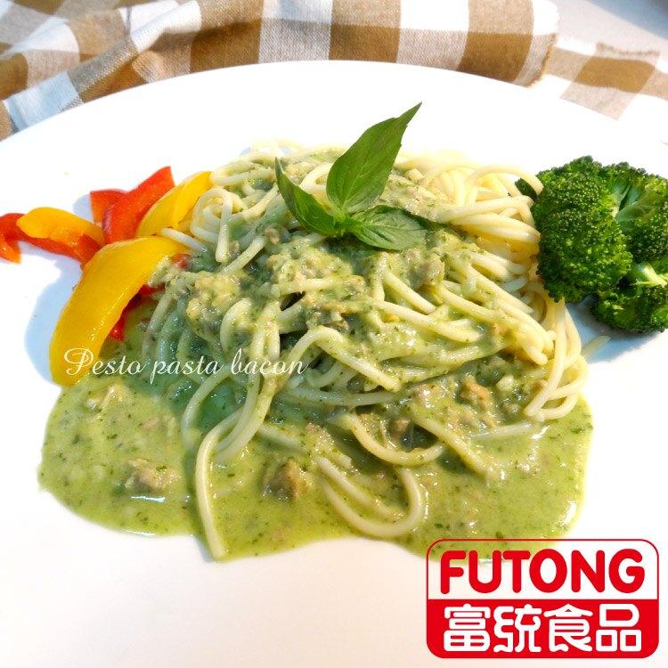【富統食品】金品亞德里奶青醬鮭魚義大利麵(300g)