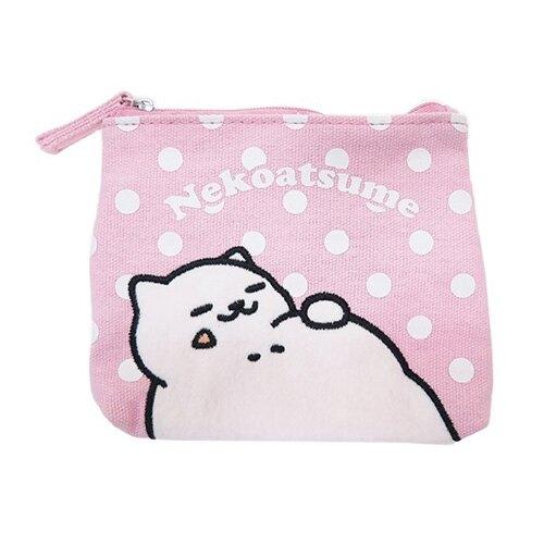 粉紅款【日本進口正版】貓咪收集 零錢包 面紙包 收納包 卡片包 Neko atsume - 427839