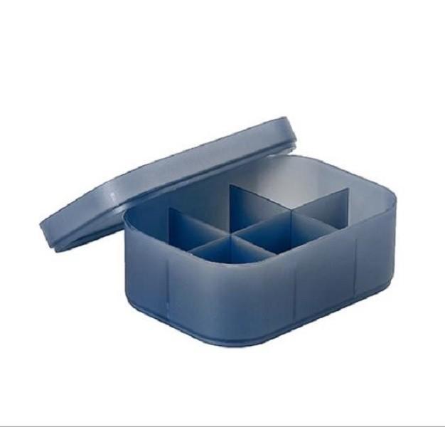 小號白色單格ch116 塑料有蓋收納盒桌面收納盒化妝品盒子塑料磨砂透明分格帶蓋面膜盒子化妝台整理
