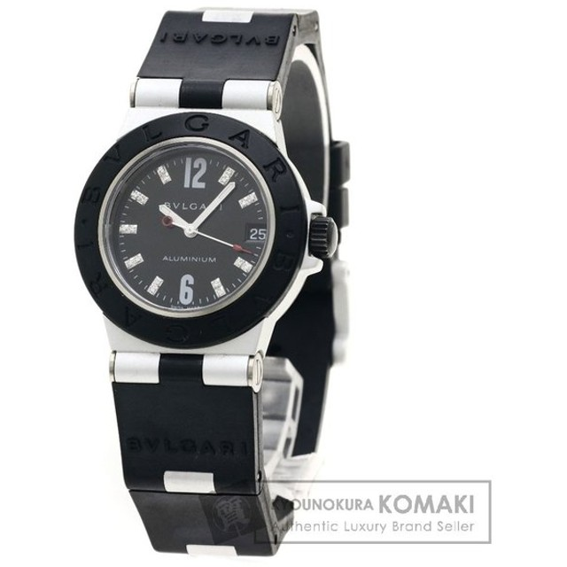 cheap for discount 51add 777a8 ブルガリ AL32TAVD アルミニウム 18Pダイヤモンド 腕時計 ...