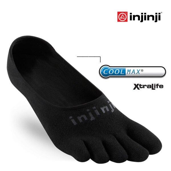 【Injinji 美國】SPORT 多功能五趾船型襪 COOLMAX 排汗襪 五趾襪 黑色 (4595)