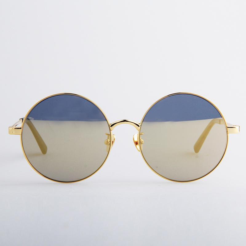 前衛造型圓框(金色‧金)太陽眼鏡
