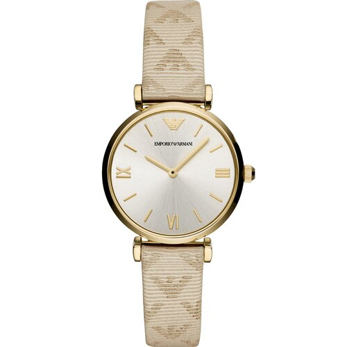 EMPORIO ARMANI 亞曼尼 AR11127  T-Bar典雅時尚腕錶/金面32mm