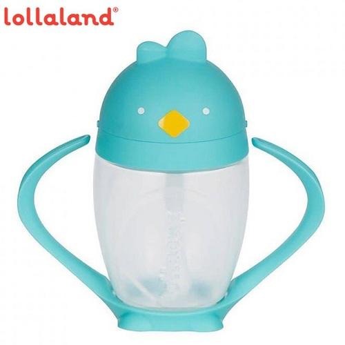 【lollaland】美國 可愛造型小雞杯 - 吸管學習杯 / 布魯雞 / Tiffany藍色 296ml
