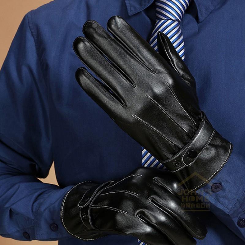 防水觸控男士三道筋保暖皮手套 防風防寒觸屏手套 pu手套 2色可選