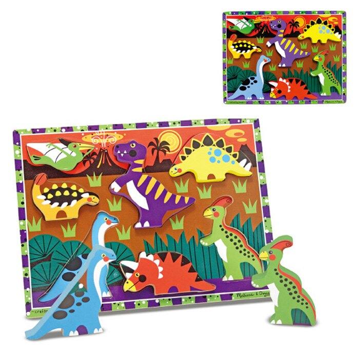 【華森葳兒童教玩具】拼圖教具系列-厚片拼圖-恐龍 N7-3747