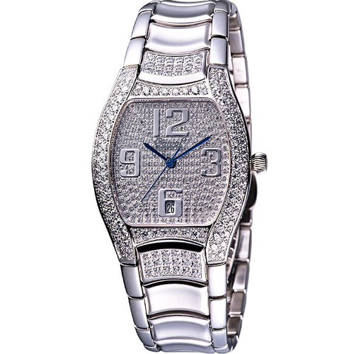 Ogival 現代經典酒桶型晶鑽腕錶-33x32mm 830M-1485