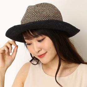 [マルイ]【セール】【サイズ調整OK】ラフィア細編みバイカラー中折れマニッシュハット/フルラ(ネックウェア・帽子)(FURLA)