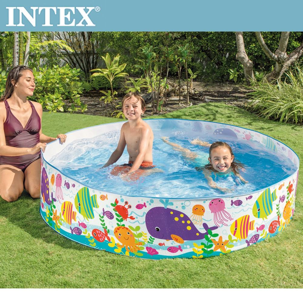 【INTEX】免充氣海洋世界幼童戲水游泳池183x38cm(958L) 適用3歲+(56452N)