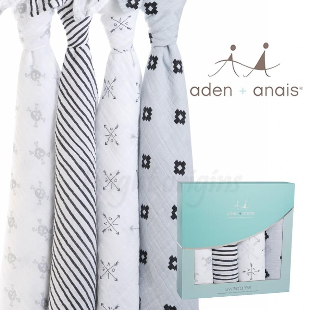 美國aden+anais 輕鬆抱寶寶包巾(四入裝) 丘比特之箭款2061