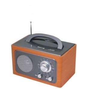 DIWANG復古手提收音機-銀灰色(CR-102S)~送變壓器