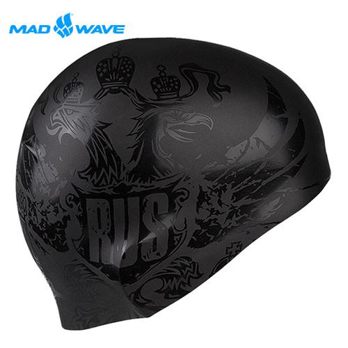俄羅斯MADWAVE成人矽膠泳帽 BLACKRUSSIA