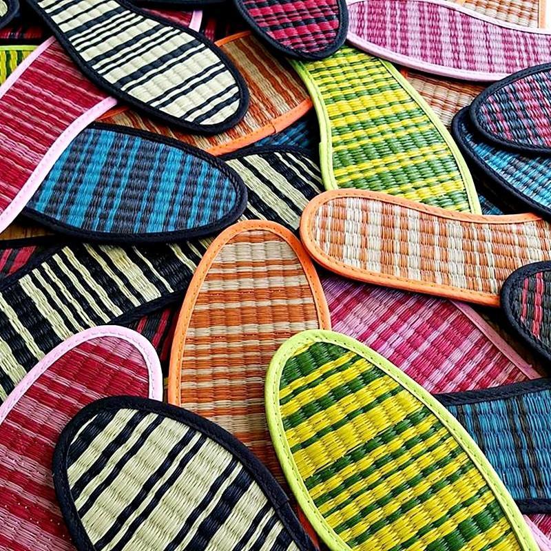 日本藺草鞋墊 尺寸26.0~26.5cm 紅色