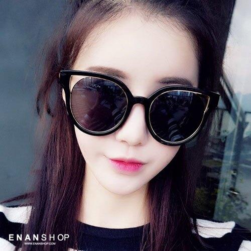 惡南宅急店【0046M】貓眼復古圓框墨鏡 歐美款 誇張太陽眼鏡 墨鏡 太陽眼鏡