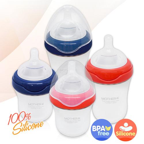 【韓國 MOTHER-K】自然乳感矽膠奶瓶 180ml