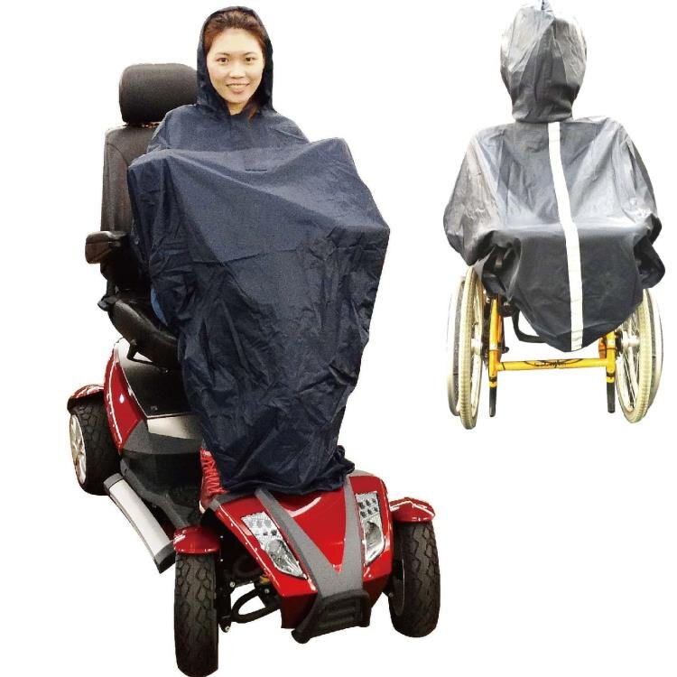 [感恩回饋降價中] 輪椅用雨衣 - 無袖設計 銀髮族 行動不便者用品*可超取*  [ ZHCN1733]