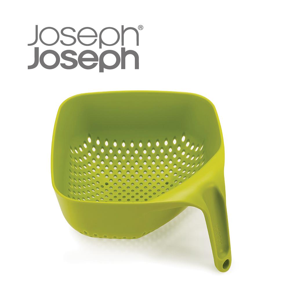 《Joseph Joseph英國創意餐廚》 好好握方形可堆疊濾籃(綠)