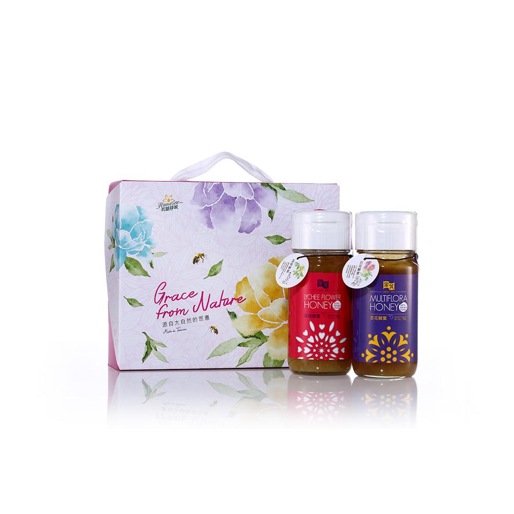宏基蜂蜜-蜜笈禮盒(荔枝蜜.百花蜜)700g2