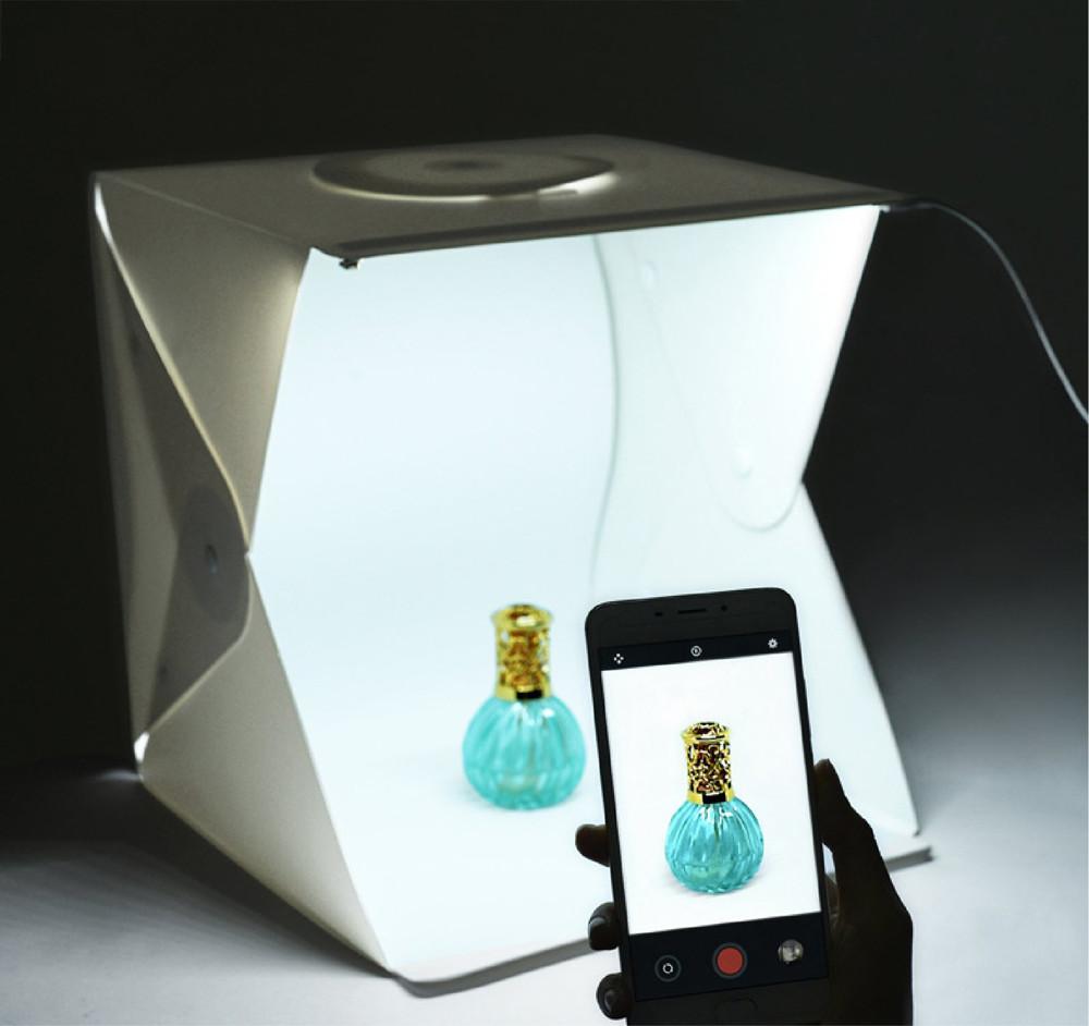 40公分大體積攝影棚全新4代led便攜攝影棚
