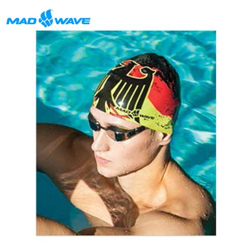 俄羅斯MADWAVE成人矽膠泳帽 GERMANY