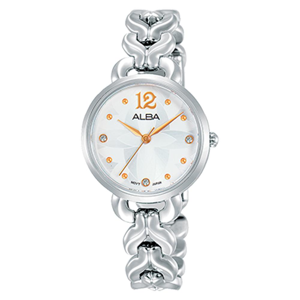 【SEIKO 精工 ALBA】送禮首選 石英女錶 不鏽鋼錶帶 銀白(AH8439X1)