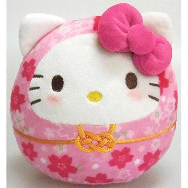【凱蒂貓達摩娃娃】凱蒂貓 櫻花 新年 達摩娃娃 粉 日本正品 該該貝比日本精品 ☆